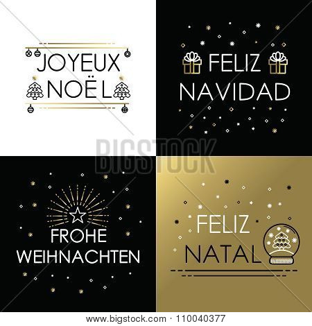 Merry Christmas Gold Line International Navidad