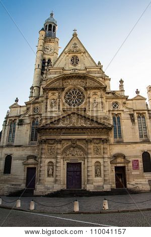 The Church Of Saint Etienne Du Mont.