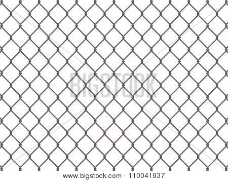 Fence From Rusty Mesh