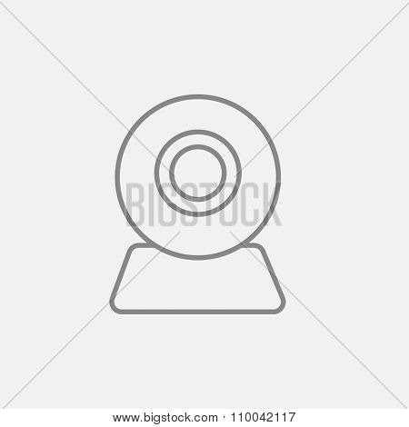 Web camera line icon for web, mobile and infographics. Vector dark grey icon isolated on light grey background.