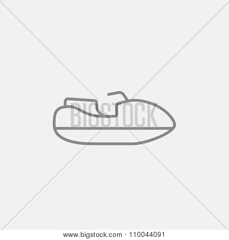 Jet scooter line icon for web, mobile and infographics. Vector dark grey icon isolated on light grey background.
