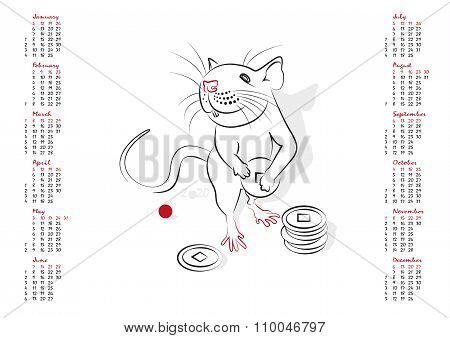 Calendar 2020 The Year Of The Rat