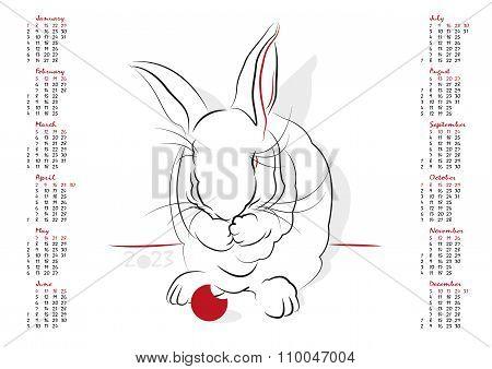 Calendar 2023 The Year Of The Rabbit