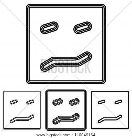 Black line disgust logo design set