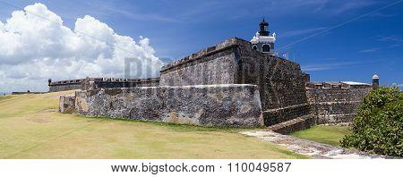 San Juan, Pr/usa - Circa April 2015: Panorama Of Castillo San Felipe Del Morro, San Juan Puerto  Ric