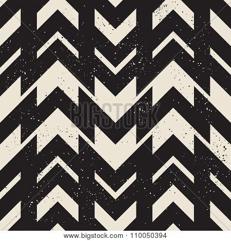 Chevron black and white seamless pattern