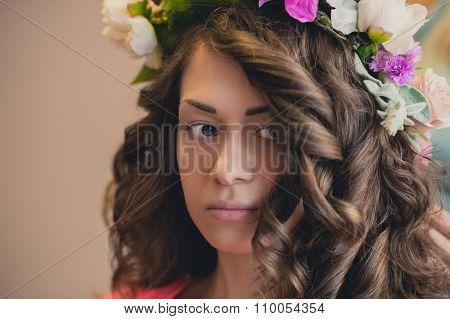 Beautiful Bride Portrait Wedding Makeup