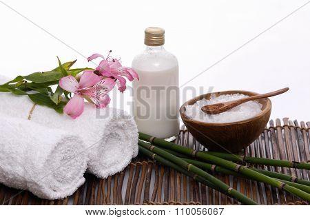 spa setting on mat