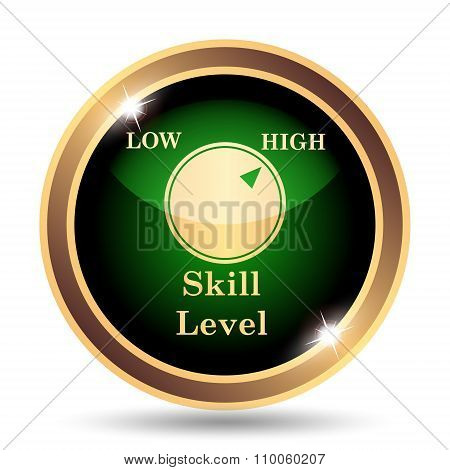 Gold and Green Skill Level Icon