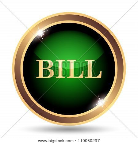 Gold and green bill Icon