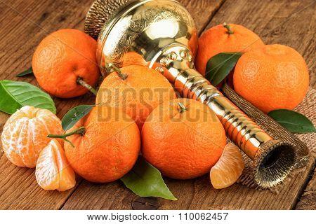 Tangerines Oriental East Still Life