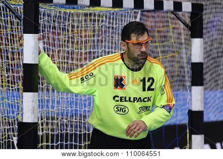 Goalkeeper Nikola Marinovic Of Kadetten Schaffhausen