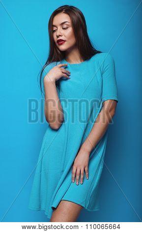 Portrait Of Fashion Glamor Stylish Swag Young Woman