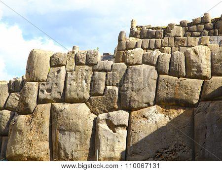 Inca Ruins - Saqsaywaman, Peru, South America.