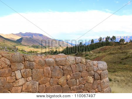 Inca Ruins - Peru, South America.