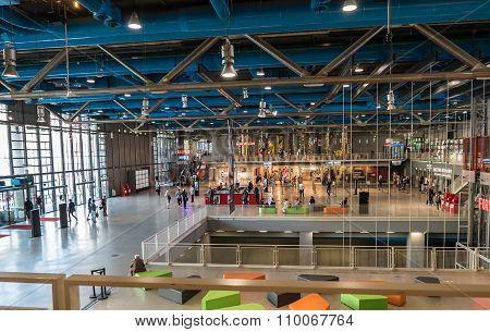 Entrance Hall, Centre Pompidou, Paris, France