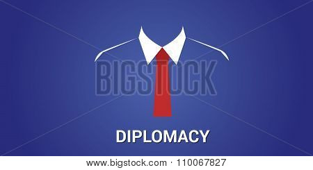 diplomacy concept with black suit