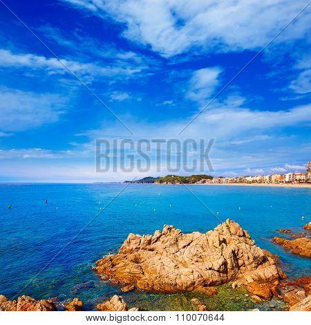 Lloret de Mar beach of Costa Brava Catalonia spain