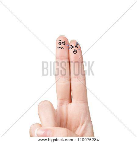 Couple of fingers quarrels