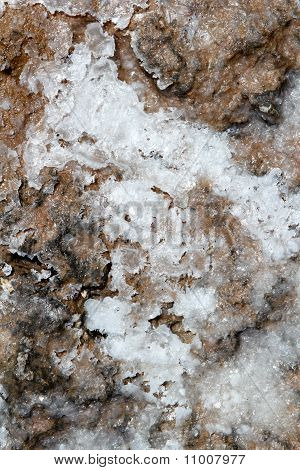 Dried Salt On Floor Texture Marine Background