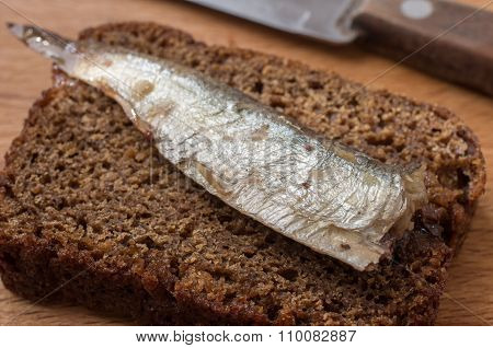 Rye Bread With Sardine