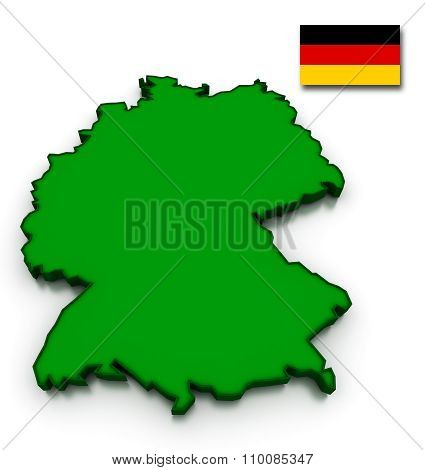 Germany Map And Flag