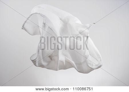 White Shirts Fabric Flying, Studio Shot , Scarf Motion