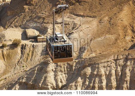 Cable Car To Masada Fortress. Israel.