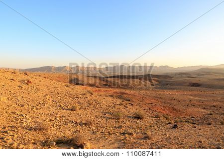 Incredible Landscape At The Bottom Of The Big Crater Hamakhtesh Hagadol
