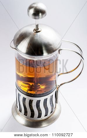 French Press With Tea .3