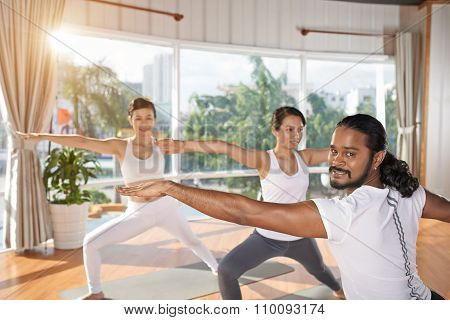 Yoga trainer at work