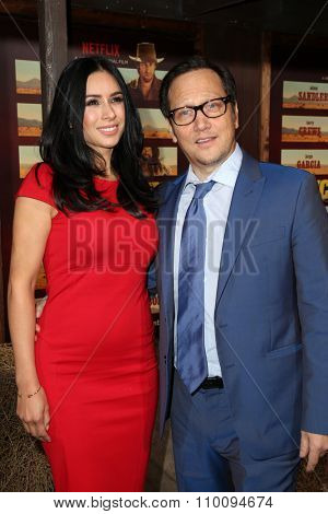 LOS ANGELES - NOV 30:  Patricia Azarcoya Schneider, Rob Schneider at the