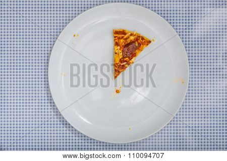 Eating A Pizza Salami, High Angle View