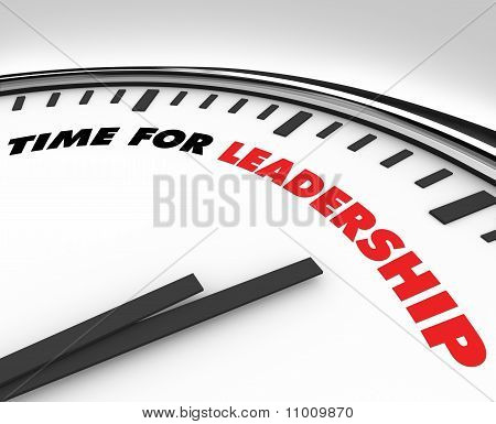 Tiempo de liderazgo - reloj