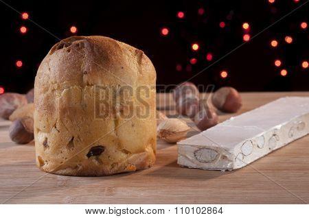 Traditional Italian Panettone Cake