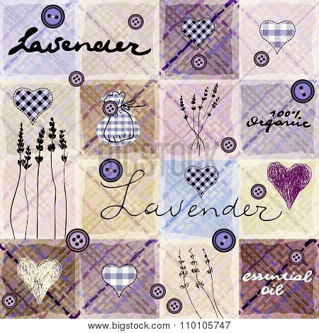 Lavender retro background