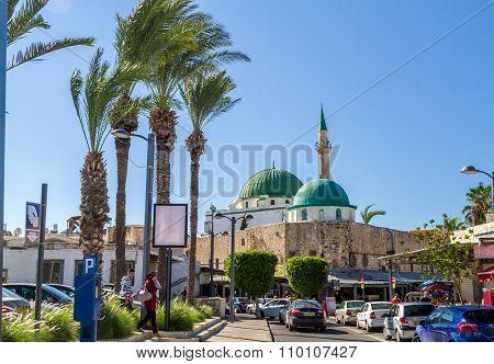 The Jezzar Pasha Mosque in Akko, Israel