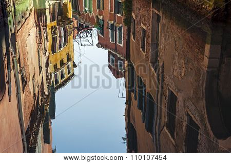 Venice Architecture Reflection In Canal Water
