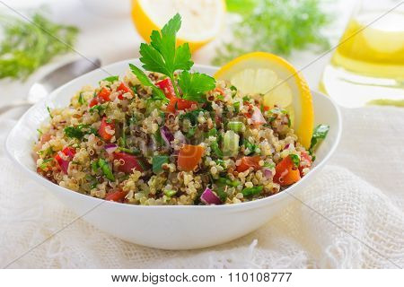 Tabbouleh Salad With Quinoa, Parsley And Vegetables