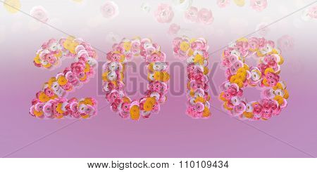 Floral Typo 2018