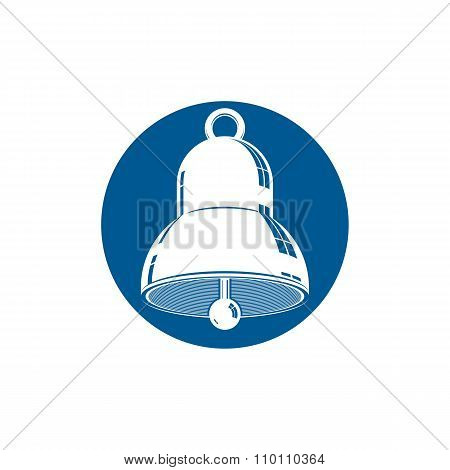 3d bell, celebration idea vector icon. conceptual graphic element for use in design and marketing.
