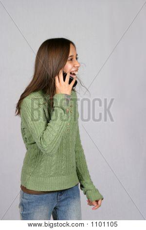 Glücklich Anrufer