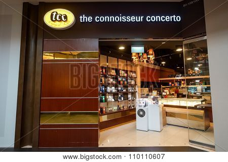 SINGAPORE - NOVEMBER 08, 2015: interior of The Connoisseur Concerto. The Connoisseur Concerto is the chain of boutique caffes boasting a comprehensive selection of gourmet food and creative beverages