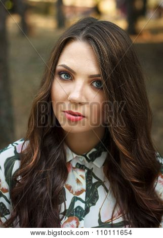 Portrait Of Beautiful Brunette