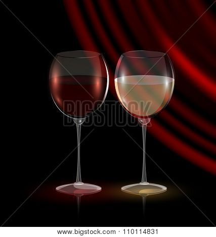 Couple Glasses Of Wine