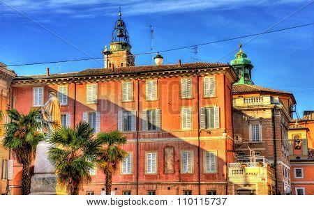 Giuseppe Garibaldi Square In Ravenna - Italy