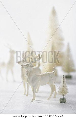 Vintage reindeer ornaments for Christmas decorating