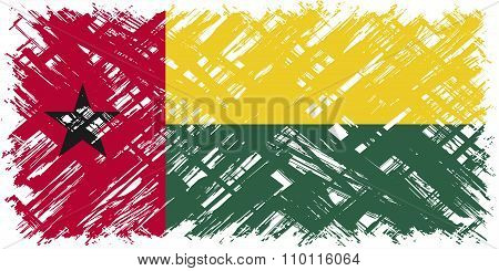 Guinea-Bissau grunge flag. Vector illustration.