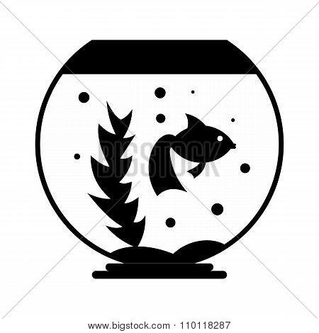 Aquarium simple icon