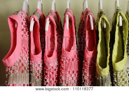 Baby Girl Clothing Hanging on clothesline